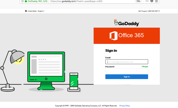 godaddy outlook email