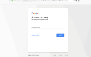Gmail Google Account Recovery