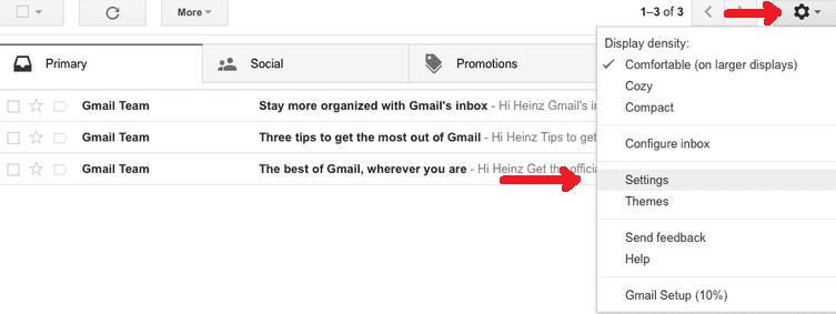 change gmail password